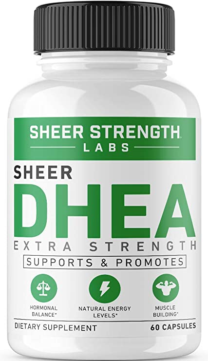 Extra Strength DHEA 100mg Supplement for Muscle Building & Hormone Balance - Supports Natural Energy Levels - Promotes Healthy Aging in Men & Women - 60 Capsules - Dehydroepiandrosterone Formula