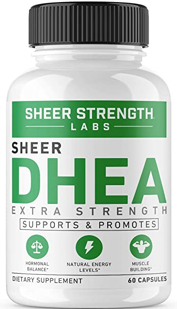 Maximum Strength DHEA 100mg Supplement - for Boosting Lean Muscle Mass,  Restoring Youthful