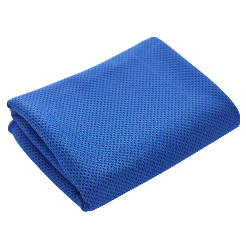 Chen Fitness Hiking Gym Yoga Cooling Quick Dry Super Absorbent Sports Towel (Blue)