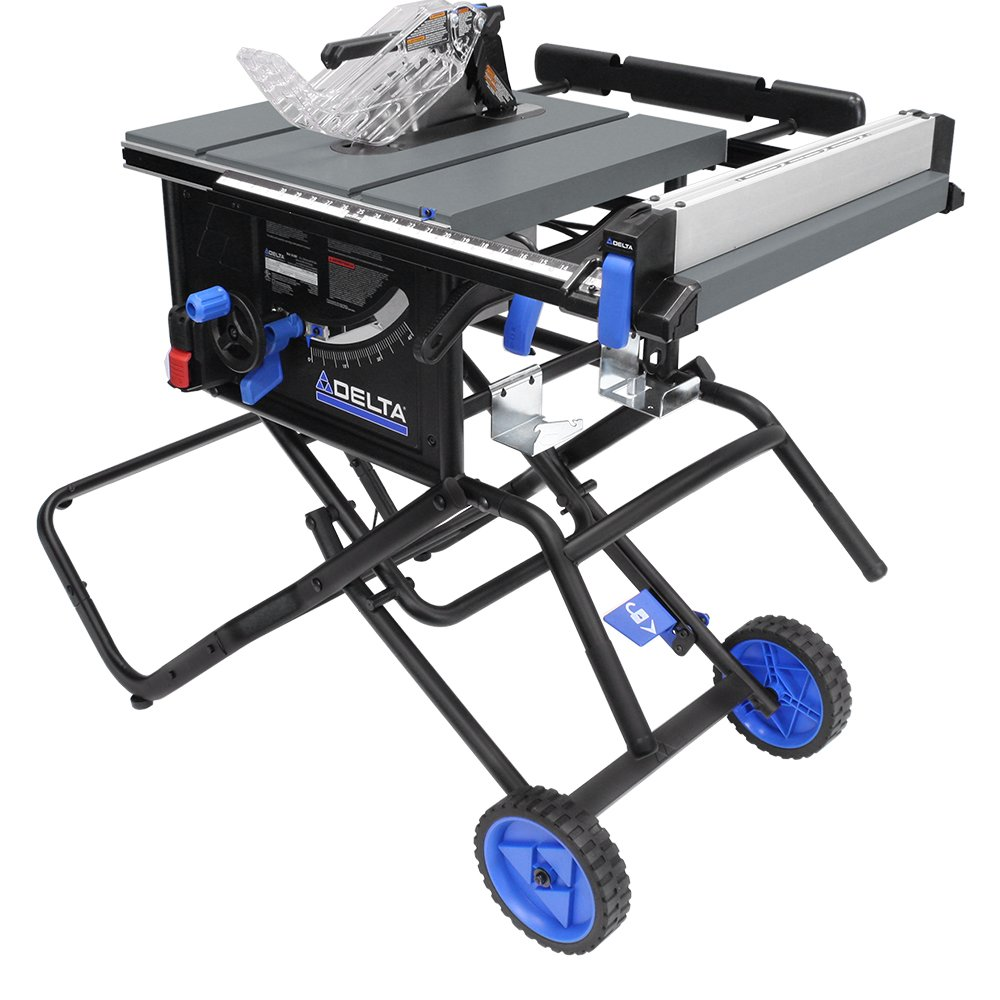 Delta Power Tools 36-6020 10'' Portable Table Saw with Stand by Delta