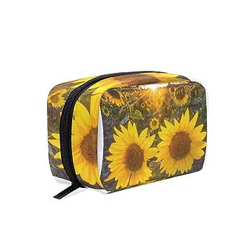 fde5bd9ad6d8 Amazon.com : Artwall Sunflower Makeup Bag Organizer Portable ...