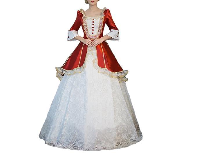 Damen Viktorianisches Kleid mit Underskirt Mittelalter Palace Royal ...