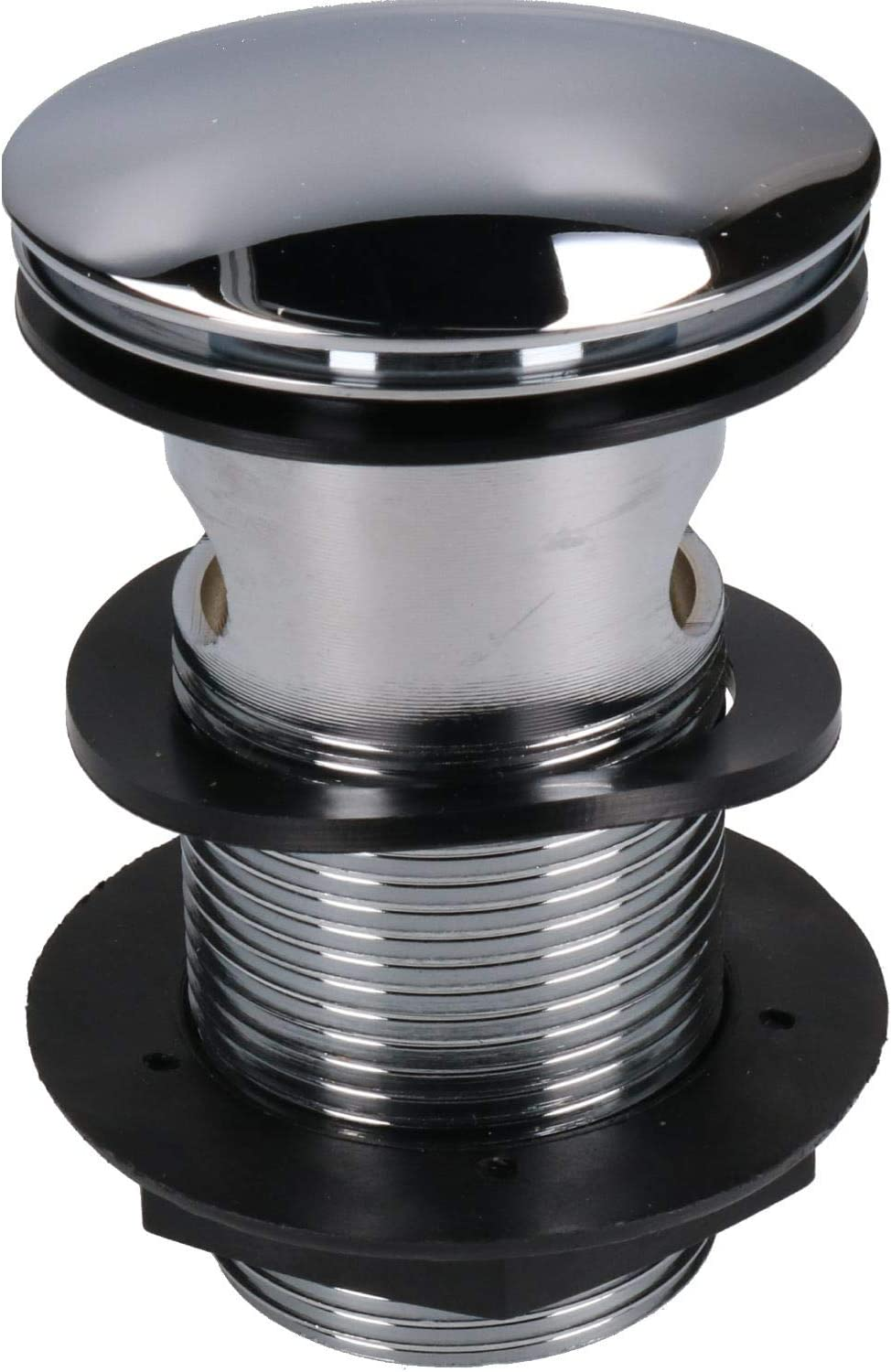 """32mm Plumbob Quick-Clac Chrome-Plated Brass Basin Plug Slotted 1-1//4/"""""""
