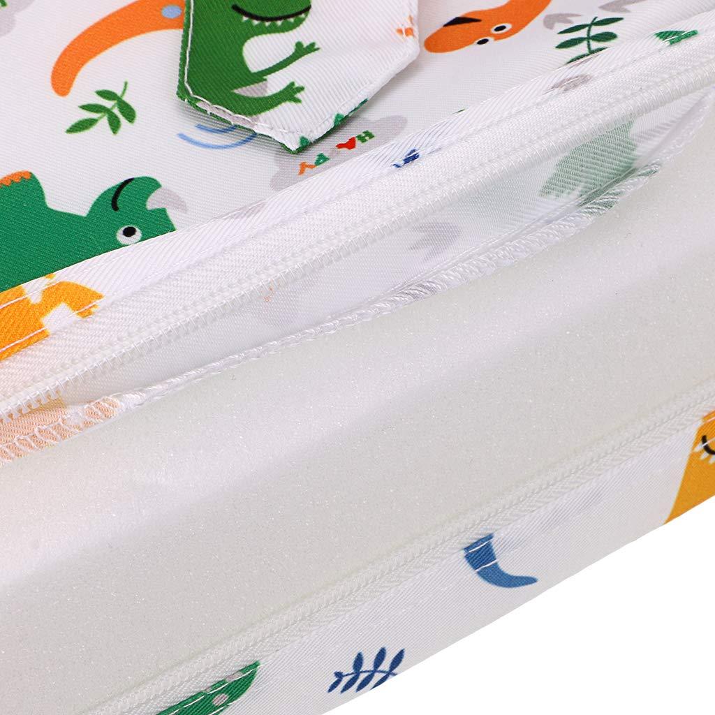 wei/ß + Dinosaurier BTSKY Baby Sitzerh/öhung mit Gurten Kleinkind Kind Kleinkind zerlegbar verstellbar waschbar Esszimmerstuhl Pads Stuhl zunehmende Kissen