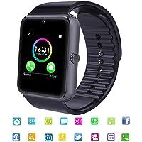 Reloj Inteligente SmartWatch Bluetooth Tagobee TB04 Tarjeta SIM Cámara Whatsapp Notifications Compatible con Todos los teléfonos Android y iOS (función Parcial)(Negro)