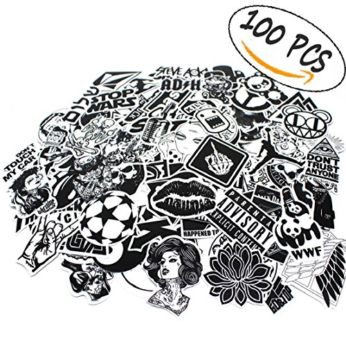 Laptop Car Stickers 100 Pcs,Graffiti Stickers Pack for Car,