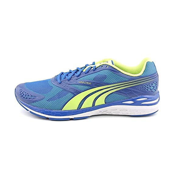 Amazon.com | PUMA Men's Bioweb Speed Victoria Blue/Fluo Yellow 14 M |  Running