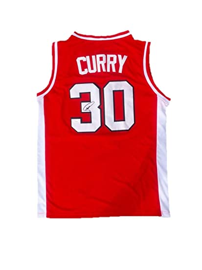 info for e08c9 f239b Stephen Curry Davidson Wildcats Away Red Autographed Signed ...