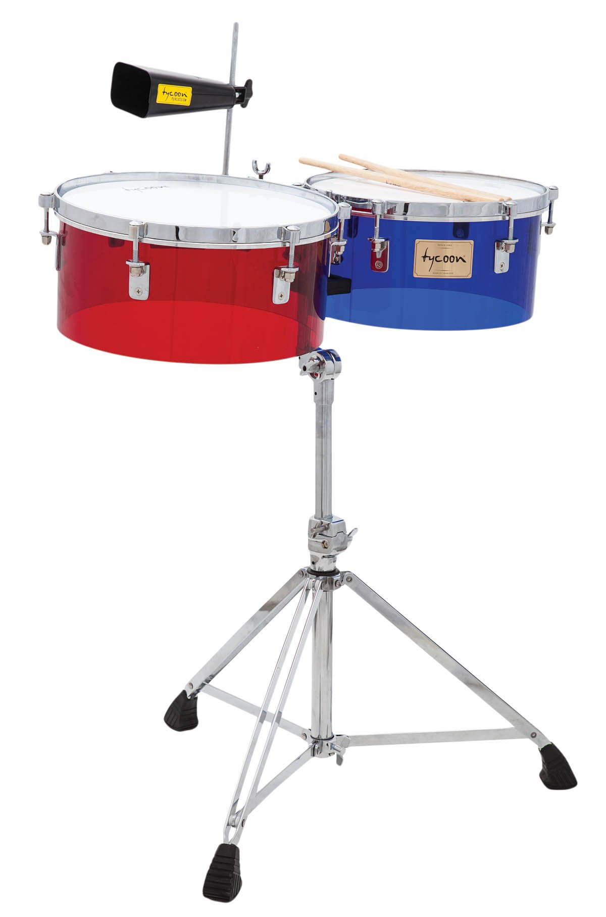 Tycoon Percussion TTI-1415 ACR 14 & 15 Acrylic Shell Timbales by Tycoon Percussion