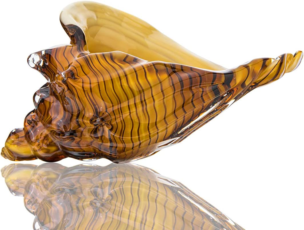 Crystal Glass Paperweight Glass Conch Home Decor Collectible ...