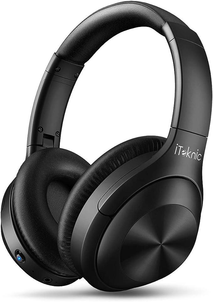 iTeknic - Auriculares Bluetooth con cancelación de ruido activa ...