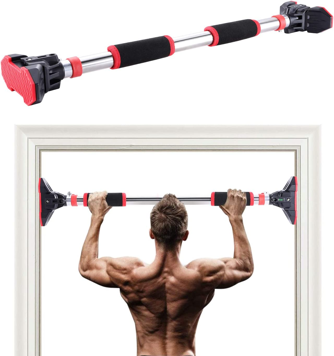 Door Home Exercise Workout Training Gym Bar Chin Up Adjustable Fitness Pull Up