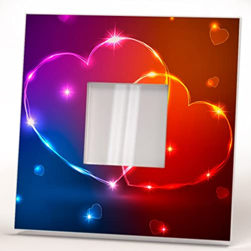 Amor Arte Valentines Dos Corazones Espejo Pared Marco Romántico ...