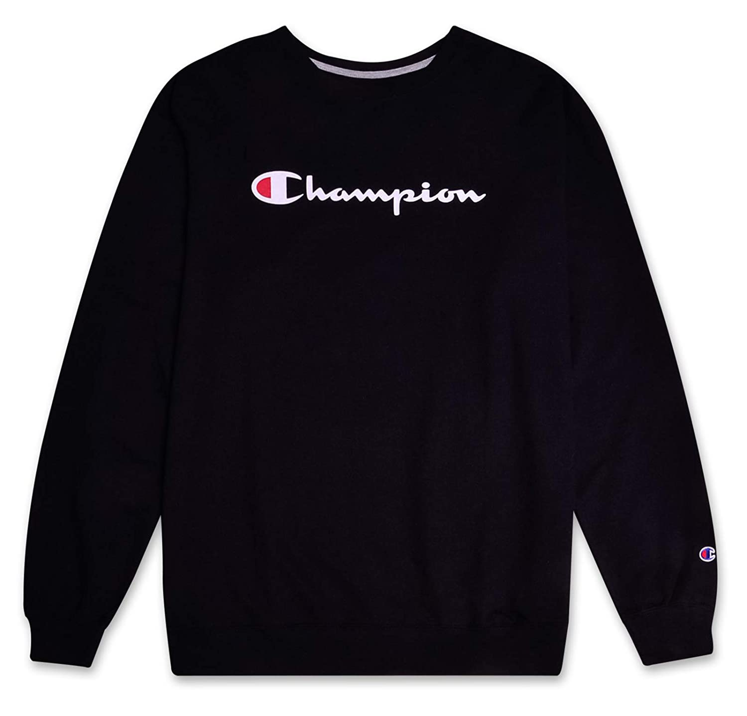 9d970abc Classic Champion script logo printed chest. Sweatshirts come in assorted  colors. This long sleeve sweat shirt feautres superSoft french terry  material
