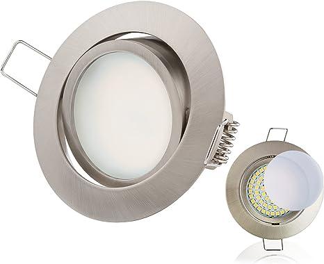 20er Einbaustrahler LED SET 230V 6W ultra-flach Decken-Spots Spot Einbau-Leuchte