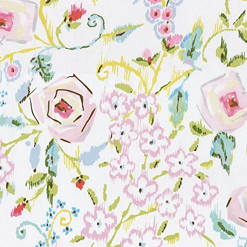 Carousel Designs Pink Primrose Fabric by The Yard ()