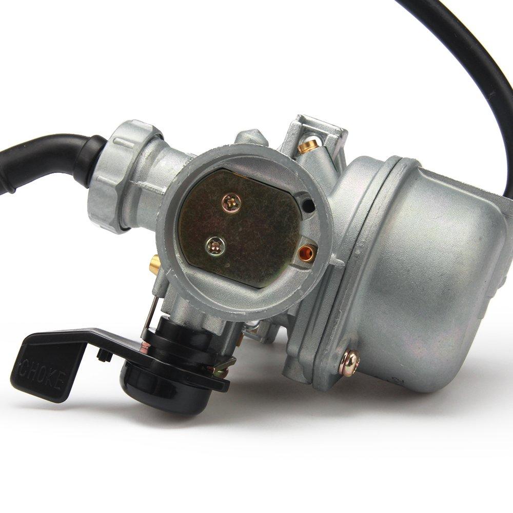 JFG RACING Hand Choke PZ22 22mm Carb Carburetor For CRF70 110 125cc Dirt Pit Bike ATV Quad Pit Bike Monkey Scooter