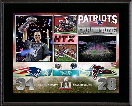 new-england-patriots-105-x-13-super-bowl-li-champions-sublimated-plaque-fanatics-authentic-certified