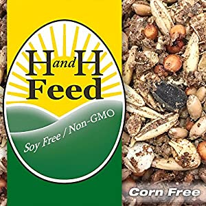 H and H Feed Delish! Old Fashioned Chicken Scratch Freshly Milled: Non-GMO, Soy Free, Corn Free (20 lb) 62