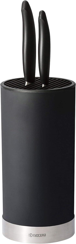 Plastique Schwarz Kyocera KB-RD BK Bloc /à Couteaux 11 x 11 x 22,5 cm Edelstahl