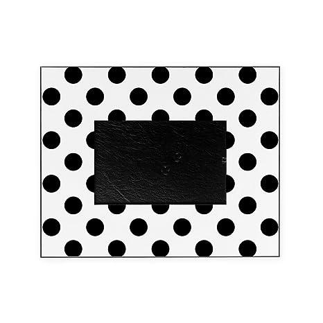 Amazon.com: CafePress - Black And White Polka Dots - Decorative 8x10 ...