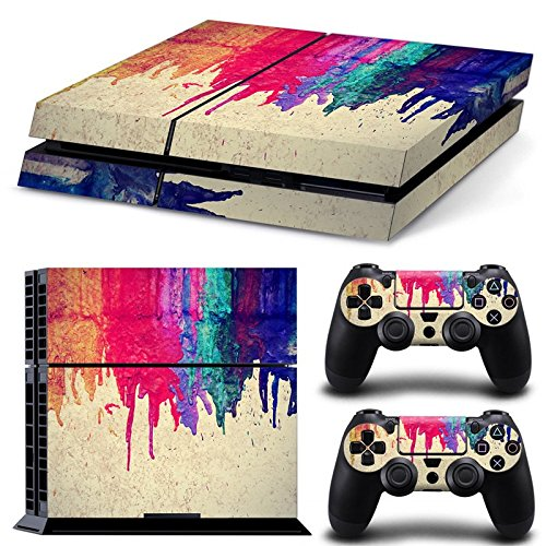 Price comparison product image GoldenDeal PS4 Console and DualShock 4 Controller Skin Set - Paint Design Colors - PlayStation 4 Vinyl VII 7