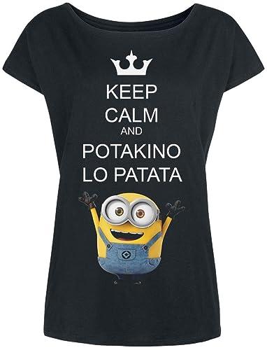 Minions Potakino Lo Patata Camiseta Mujer Negro