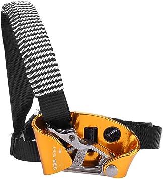 Tbest Ascender de Pie, Ascendente de Pie Derecha/Izquierda Equipo de Montañismo de Escalada en Roca Dispositivo de Escalada de Cuerda para Escalada en ...