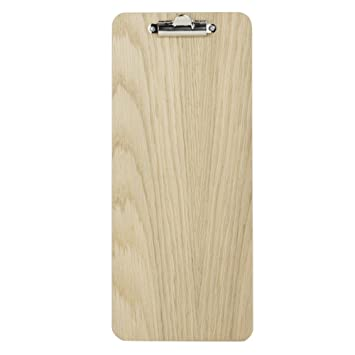 slim wooden clipboard with natural finish 145mm x 340mm amazon co