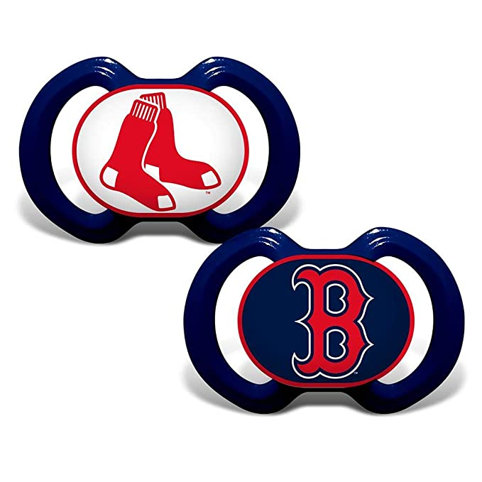 Baby Fanatic MLB Boston Red Sox Unisex BRS212Gen. 3000 Pacifier 2-Pack - Boston Red Sox, See Description, See Description