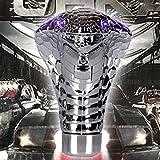 Universal Cobra Gear Stick Shift Knob Car Styling 3-Mode LED LightEyes for Manual Automatic Transmission Cars (BLUE)