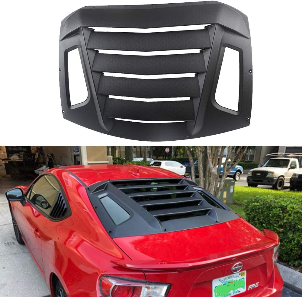 Matte Black Rear Window Louvers Sun Shade Cover in GT Lambo Style for Toyota 86 Scion FR-S Subaru BRZ 2013-2020