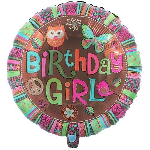Anagram International Hx Hippie Chick Birthday Balloon, Multicolor