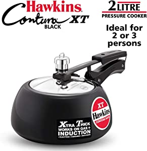Hawkins CXT20 Pressure Cookers, 2 Liter, Black