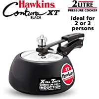 Hawkins Hard Anodised Aluminium Pressure Cooker, 2 litres, Black