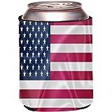 Rikki Knight United States of America USA Flag Design Drinks Cooler Neoprene Beverage Insulators Huggers