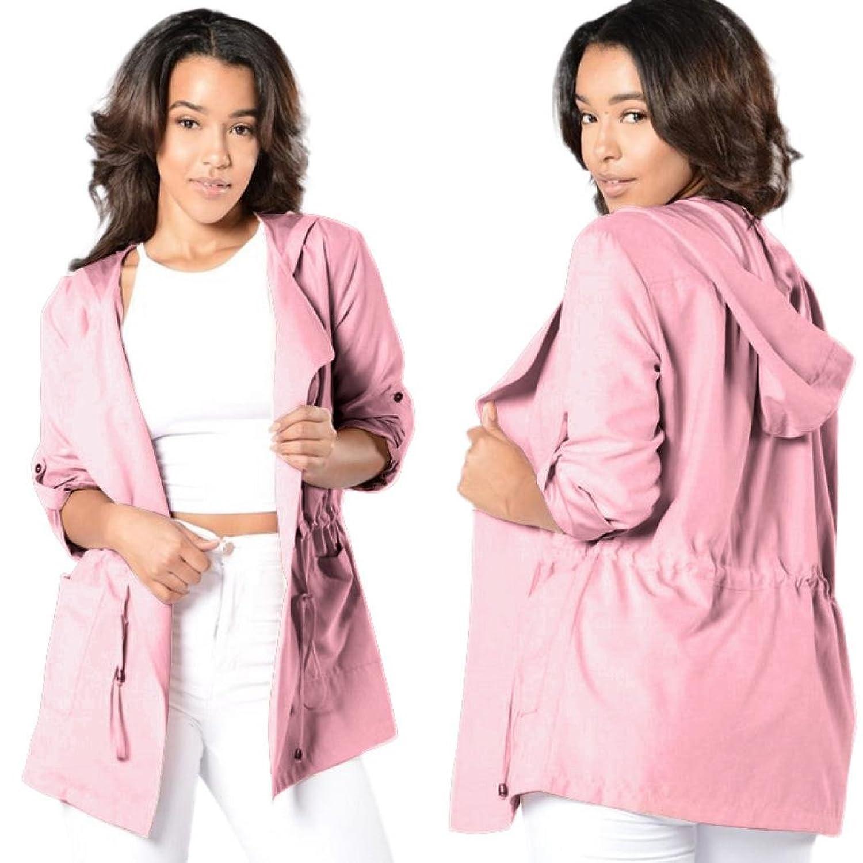 SunWard(TM) Women Hooded Long Coat Trench Windbreaker Parka Outwear