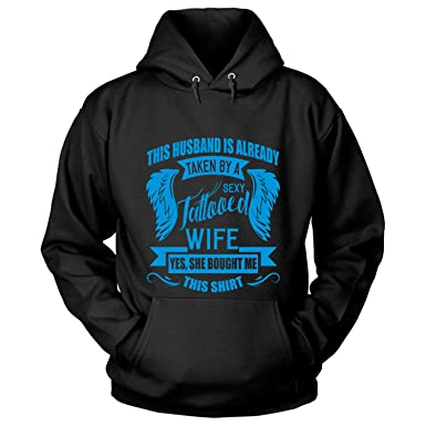 Amazon com: COLOSTORE Tattooed Wife Hoodies, This Husband is