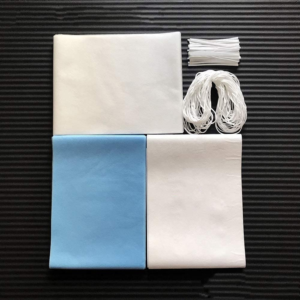Disposable waterproof non-woven fabric anti-static meltblown filter non-woven fabric including elastic ear line and nose bridge bracket DIY self-made 3-layer breathable skin-friendly fabric