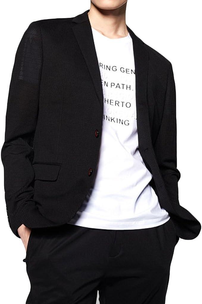 WEEN CHARM テーラードジャケット メンズ 細身 長袖 ジャケット スーツ 無地 デザイナーズ メンズ カジュアル ジャケット ビジネス 春 夏 秋 サマージャケット ブラック ブルー
