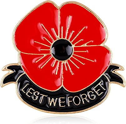 Amazon Com Lauhonmin Lest We Forget Poppy Brooch Pin Flower