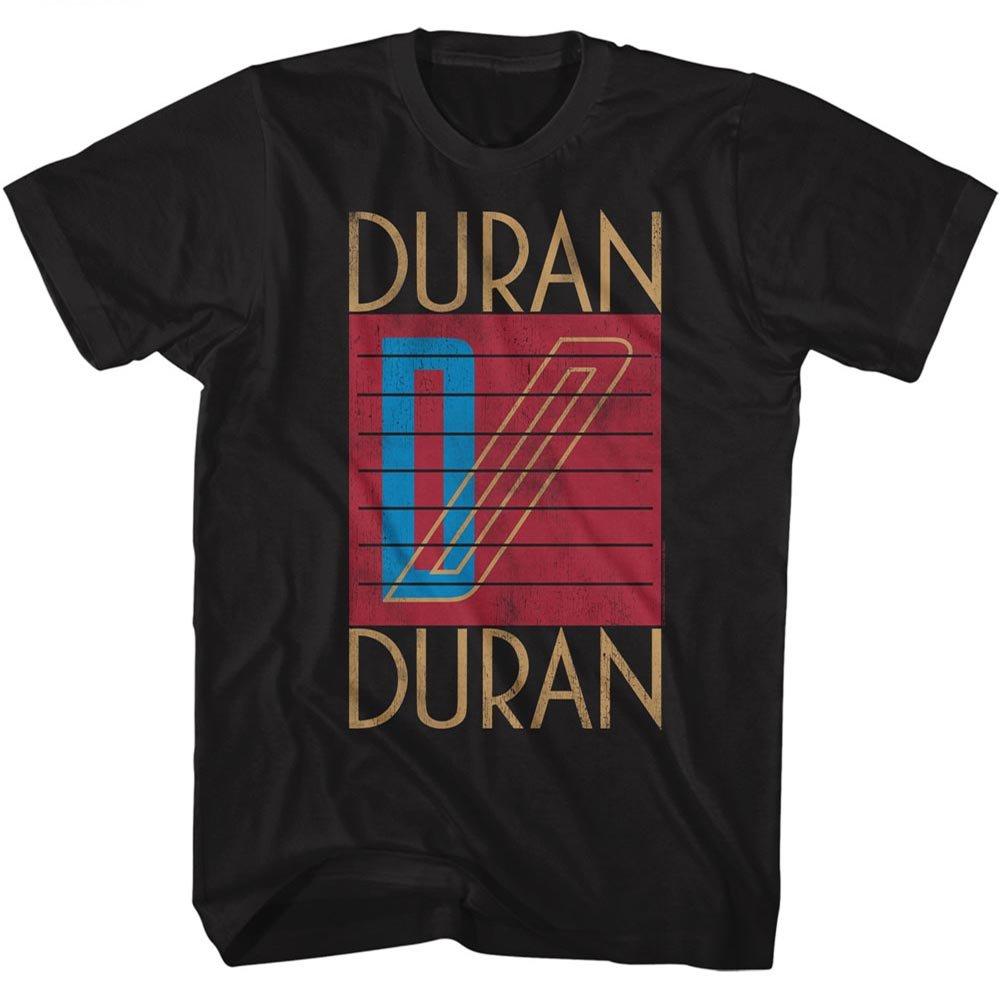 A E Designs Duran Duran Tshirt Logo Black Tee