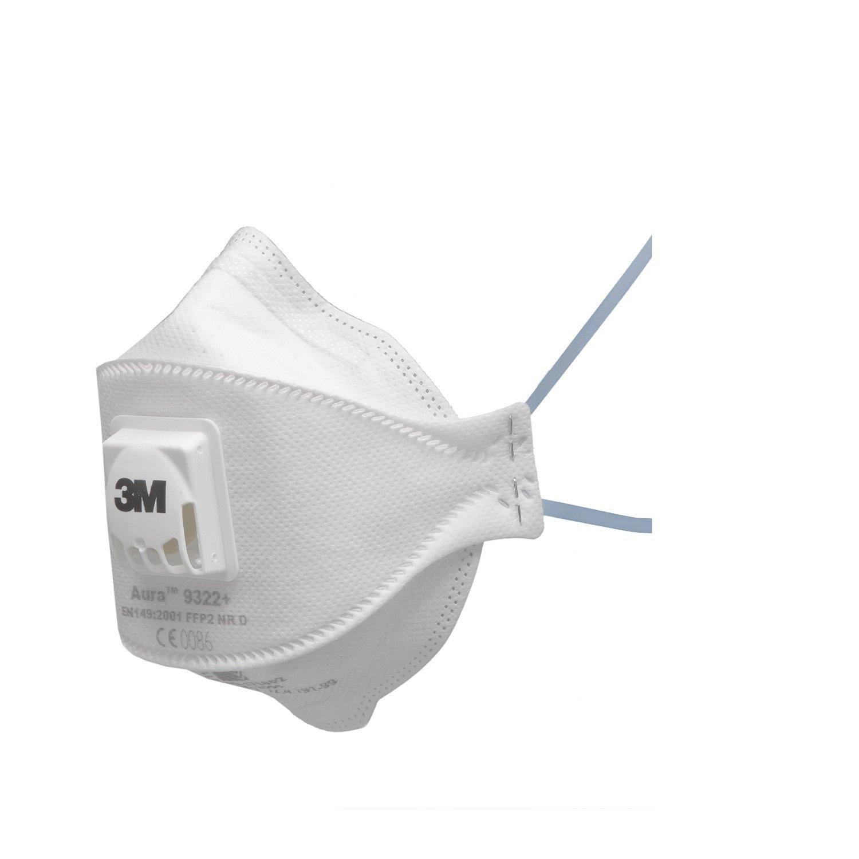 3M 9322 mácara de protección - máscaras de protección (FFP2, Color blanco)