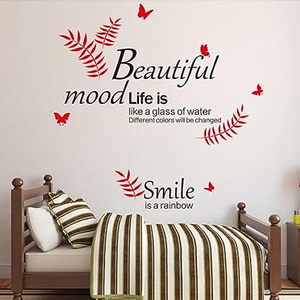 Amazon Com Ducklingup Print Words Beautiful Mood Life Smile Is A