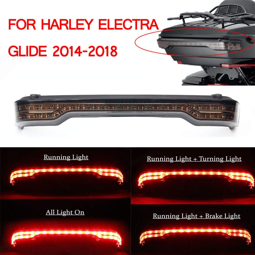 Triclicks LED Smoke Brake Turn Tail Light For Harley Touring Electra Glide Ultra Classic Tour 2014-2018