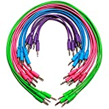 Patch Cables - 20 Pack Assorted! Synthrotek 3.5mm 1/8 inch Mono Eurorack Modular