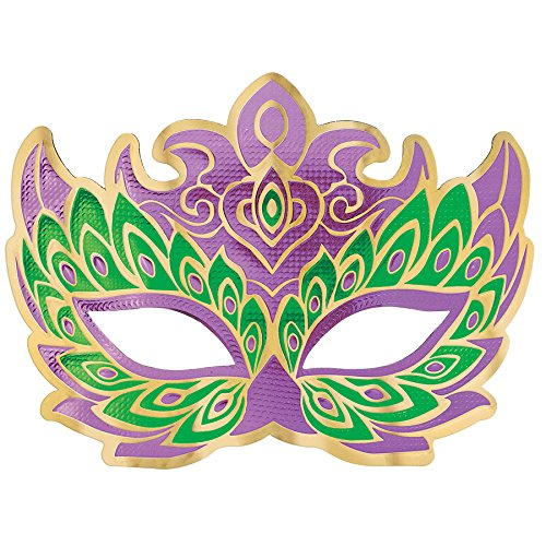 - Mardi Gras Holographic Party Mask