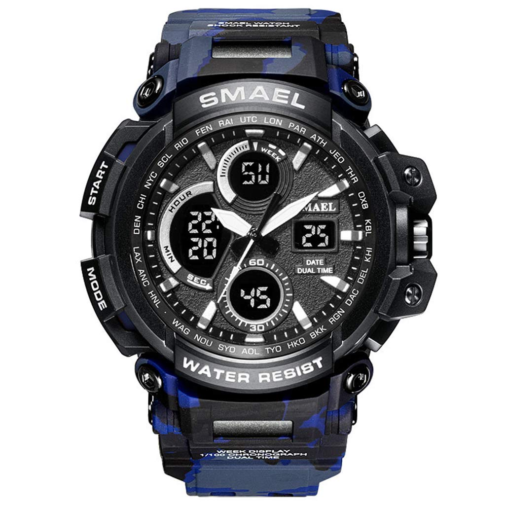 Amazon.com: SMAEL Sports Analog Digital Watch for Men Quartz ...