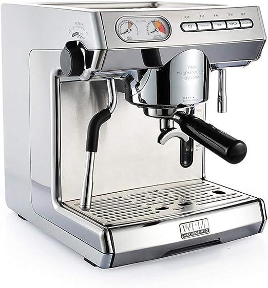 KOUDAG Cafetera Máquina de café de Doble Bomba Comercial Estilo ...