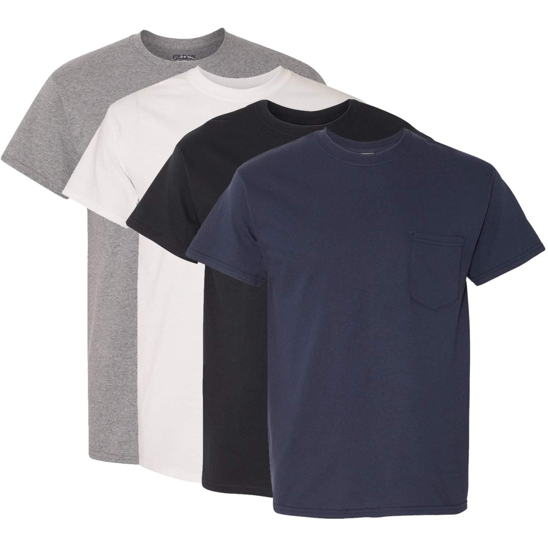 4 Pack Gildan Mens Heavy Cotton T-Shirt